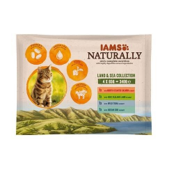 Iams Naturaly-Multipack Land & Sea para Gato (1)