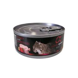Alpha Spirit-Feline Adult Pavo y Frambuesas 85 Gr Húmedo (1)