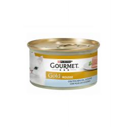 Gourmet Gold Pack Mousse Pescado del Océano comida húmeda para gatos