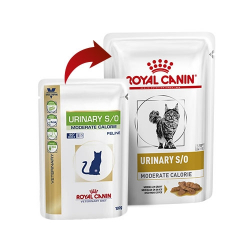 Royal Canin Veterinary Diets-Feline Urinary S/O Moderate Calories Húmedo 100 gr. (1)