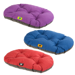 Cama Relax perro y gato Cushion Green Blue Purple Ferplast