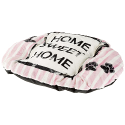 Cama Relax perro y gato Cushion Dove Grey Pink Ferplast