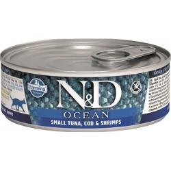 Farmina ND Cat Ocean Atún y Bacalao comida húmeda para gatos 12x80grs