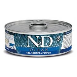 Farmina ND Cat Ocean Pumpkin Bacalao comida húmeda para gatos 12x80grs