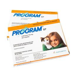 Program-s7 antiparasitario interno para gatos 6 ampollas