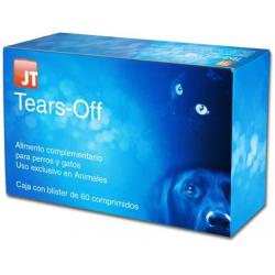 JT- Tears-Off alimento complementario para perros y gatos para problemas oculares y lagrimales