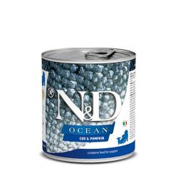 Farmina ND Dog Ocean Pumpkin Puppy Bacalao comida húmeda para cachorros 6x285grs