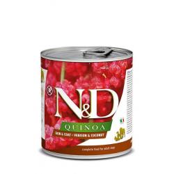Farmina ND Dog Quinoa Skin Coat Venado comida húmeda para perros 6x285grs
