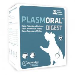 Plasmoral Digest alimento complementario para perros 30 sobres