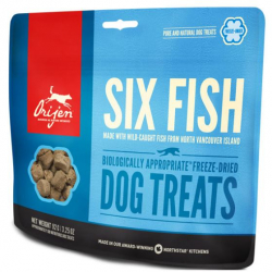 Orijen Six fish Dog Treats Premios Para Perro 100% Proteina Y Nada Mas