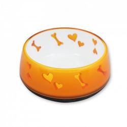 Comederos Dog Love Pásctico Naranja para perros