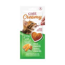 Catit Snack Creamy Pollo y cordero para gatos