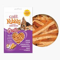 Catit Snacks Nibbly Grills Pollo & Vieira para gatos