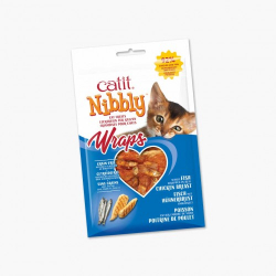 Catit Snacks Wraps Grills Pollo & Pescado para gatos