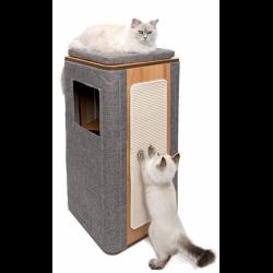 Catit Vesper Cubo Tower Gris para gatos