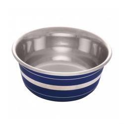 Dogit Comedero Acero Inox Anti Deslizante Blue Stripe para perros