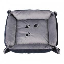 Pawise Cama Rectangular Delux Azul/Gris para gatos