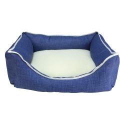 Cama Borrego Azul para perros y gatos