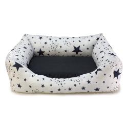 Cama cuadrada Estrellas Negras perros y gatos