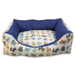 Cama perritos azules perros y gatos