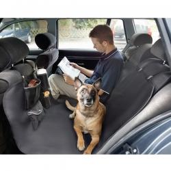 Cubierta asientos de coche negra para perros