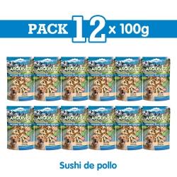 Snack Sushi de pollo 100 g Snack para perros