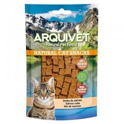 Golosinas para gatos Snack gato - Dados de salmon 50g