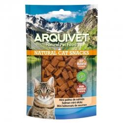 Golosinas para gatos Snack gato - Mini palitos de Salmón - 50gr