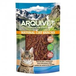 Golosinas para gatos Snack gato - Tiras de pato y camarones - 50gr