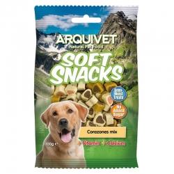 Golosinas para perros Soft snacks corazones Mix 100 grs.
