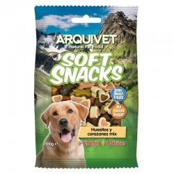 Golosinas para perros Soft snacks Huesitos y corazones Mix 100 grs.