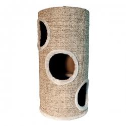 Rascador Beige con agujeros para gatos
