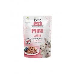 Brit care mini puppy filetes cordero en salsa latas para gato