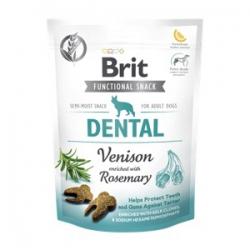 Brit care dog functional snack dental venado perros